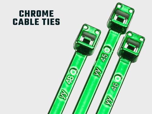 Metallische Chrom Kabelbinder